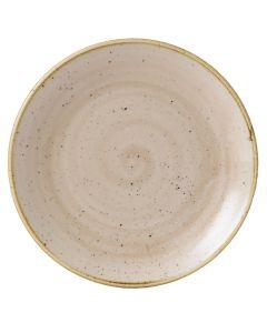"Churchill Stonecast Coupe Plate 8.66"" Nutmeg Cream"