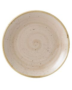 "Churchill Stonecast Coupe Plate 12.75"" Nutmeg Cream"