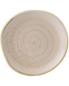 "Churchill Stonecast Organic Round Plate 11.25"" Nutmeg Cream"