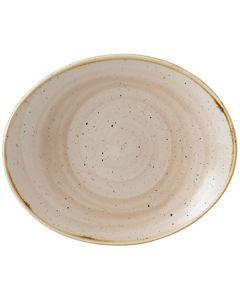 "Churchill Stonecast Oval Coupe Plate 7.75"" Nutmeg Cream"