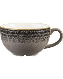 Churchill Homespun Cappuccino Cup 8oz Charcoal Black