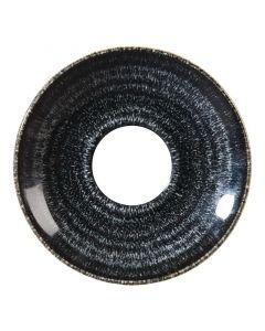 "Churchill Homespun Cappuccino Saucer 6.25"" Charcoal Black"