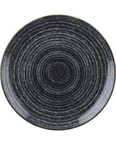 "Churchill Homespun Coupe Plate 11.25"" Charcoal Black"