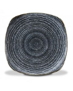 "Churchill Homespun Square Plate 8.5"" Charcoal Black"
