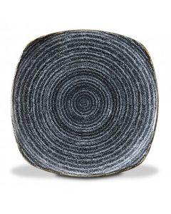 "Churchill Homespun Square Plate 10"" Charcoal Black"
