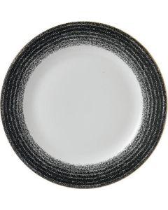 "Churchill Homespun Rimmed Plate 8.25"" Charcoal Black"