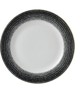 "Churchill Homespun Rimmed Plate 11"" Charcoal Black"
