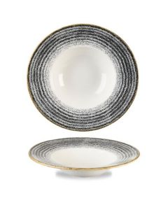 Churchill Homespun Wide Rim Bowl 16.5oz Charcoal Black