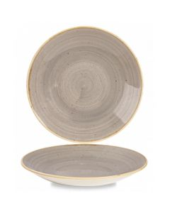 """Churchill Stonecast Deep Coupe Plate 8.8"""" Peppercorn Grey"""
