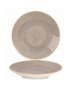 """Churchill Stonecast Deep Coupe Plate 10"""" Peppercorn Grey"""