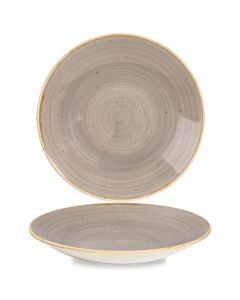 """Churchill Stonecast Deep Coupe Plate 11"""" Peppercorn Grey"""