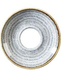 """Churchill Homespun Cappuccino Saucer 6.25"""" Stone Grey"""