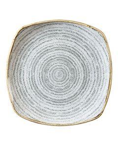 "Churchill Homespun Square Plate 8.5"" Stone Grey"