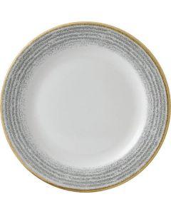 "Churchill Homespun Rimmed Plate 10.25"" Stone Grey"