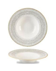 Churchill Homespun Wide Rim Bowl 10oz Stone Grey