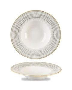 Churchill Homespun Wide Rim Bowl 16.5oz Stone Grey
