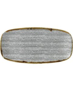 "Churchill Homespun Chef's Oblong Plate 11"" Stone Grey"