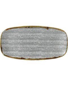 "Churchill Homespun Chef's Oblong Plate 14"" Stone Grey"