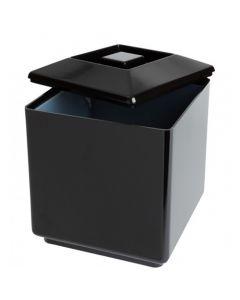 Square Black Ice Bucket