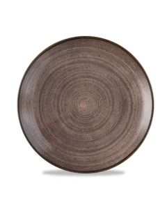 Stonecast Raw Coupe Plate - Brown 26cm