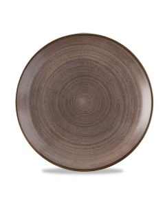 Stonecast Raw Coupe Plate - Brown 28.8cm