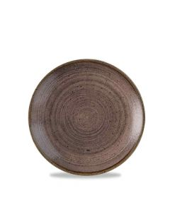 Stonecast Raw Coupe Plate - Brown 16.5cm