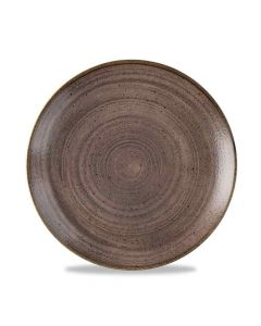 Stonecast Raw Coupe Plate - Brown 21.7cm