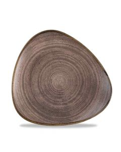 Stonecast Raw Triangle Plate - Brown 22.9cm