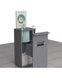 Hand Sanitiser Station with Twin Pump & Paper Towel Dispenser