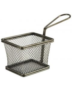 Black Serving Fry Baskets Small Rectangular