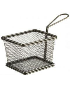 Black Serving Fry Baskets Rectangular
