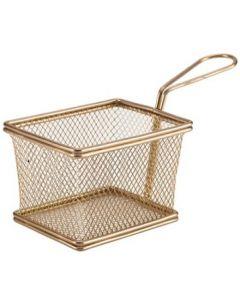 Copper Serving Fry Baskets Rectangular