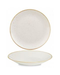 """Churchill Stonecast Deep Coupe Plate 8.8"""" Barley White"""