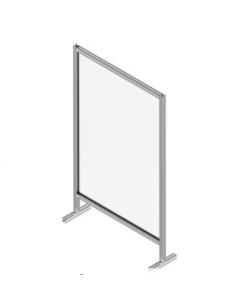 Floor-standing Single Panel Protective Screen
