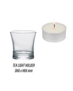 6x Modern Clear Tea Light Candle Holder