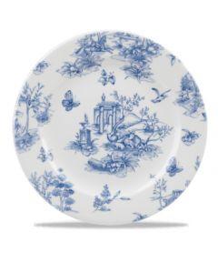 "Churchill Prague Toile Plate 8.25"""