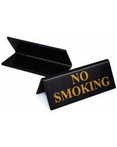 No Smoking Table Notice Gold on Black