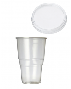 Disposable Pint 20oz to Brim With Lid (Polypropylene)