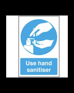 Use Hand Sanitiser Text & Symbol Vinyl Sticker