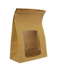 Vegware Kraft NatureFlex Window Bloomer Bag - Compostable