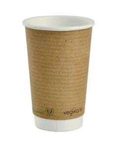 Vegware Double Wall Brown Hot Cup 16oz
