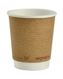 Vegware Double Wall Brown Hot Cup 8oz