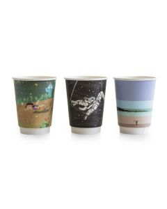 12oz Gallery design double wall hot cup, 89-Series