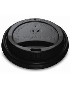 Vegware Compostable Flat Lid 79mm Black (8oz Hot Cup)