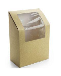 Vegware Kraft Tortilla / Wrap Box