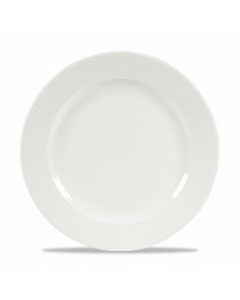 """Churchill Isla Footed Plate 10.25"""" White"""