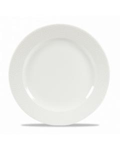 """Churchill Isla Footed Plate 10.8"""" White"""