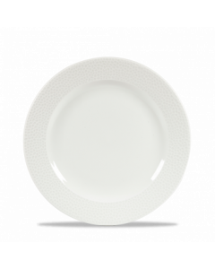 """Churchill Isla Foodted Plate 9.12"""" White"""