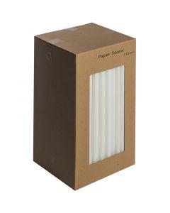 """All White Paper Straws 8"""""""