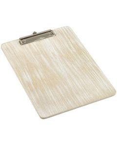 White Wash Wooden Menu Clipboard